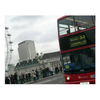Cartão Postal Ônibus do vermelho de Londres