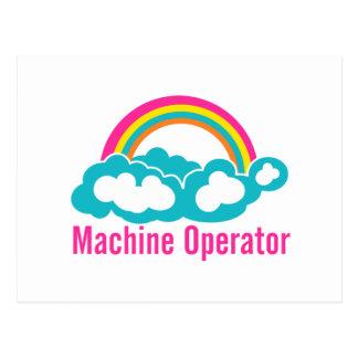 Cartão Postal Operador de máquina do arco-íris da nuvem