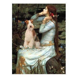 Cartão Postal Ophelia assentou - Fox Terrier 3 do fio