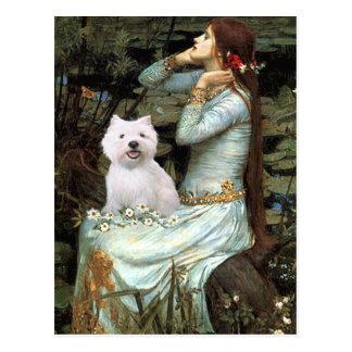 Cartão Postal Ophelia assentou - Westie 2