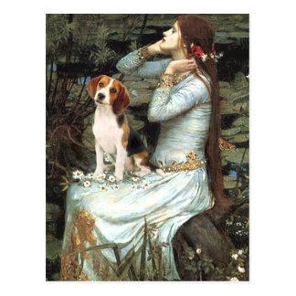 Cartão Postal Ophelia-Beagle1