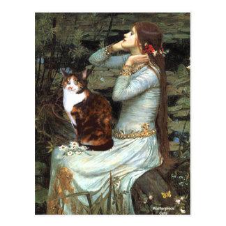 Cartão Postal Ophelia - gato de chita