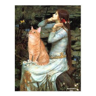 Cartão Postal Ophelia - gato de gato malhado alaranjado 46