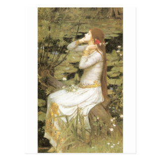 Cartão Postal Ophelia - John William Waterhouse (1894)