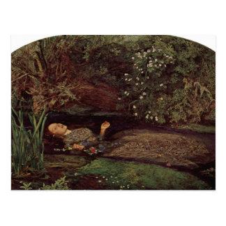 Cartão Postal Ophelia por John Everett Millais