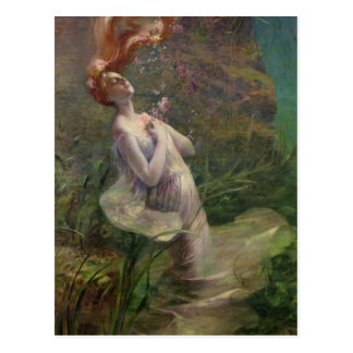 Cartão Postal Ophelia que afoga-se, 1895
