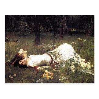 Cartão Postal Ophelia que coloca no prado