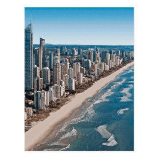 Cartão Postal Opinião aérea de Gold Coast Austrália