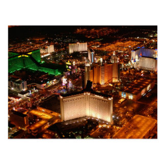 Cartão Postal Opinião aérea de Las Vegas de um dirigível