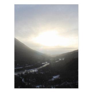 Cartão Postal Opinião Alaska da passagem de Hatcher