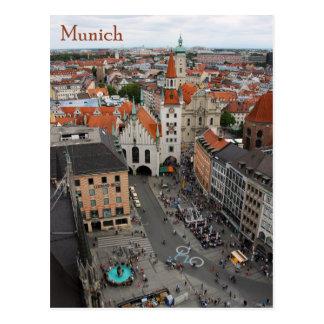 Cartão Postal Opinião Altes Rathaus de Munich de Marienplatz
