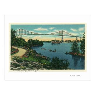 Cartão Postal Opinião americana do período da ponte