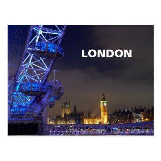 Cartão Postal Opinião BRITÂNICA do olho de Londres da paisagem