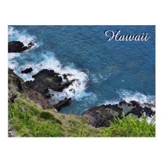Cartão Postal Opinião cénico de ondas de oceano do penhasco de