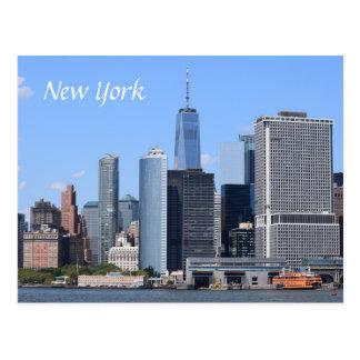 Cartão Postal Opinião da cena da Nova Iorque dos EUA América