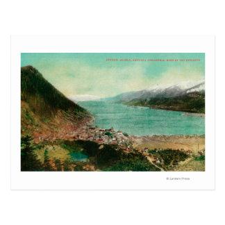 Cartão Postal Opinião da cidade de Juneau, Alaska com mina de