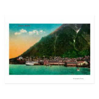 Cartão Postal Opinião da cidade de Juneau, AlaskaJuneau, AK 2