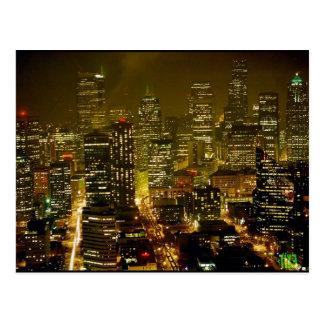 Cartão Postal Opinião da cidade de Seattle