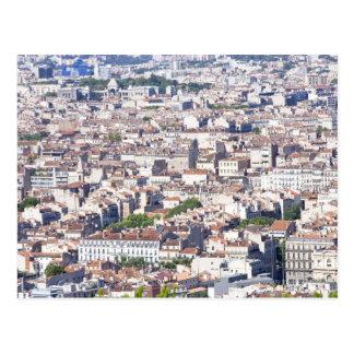 Cartão Postal Opinião da cidade em Marselha