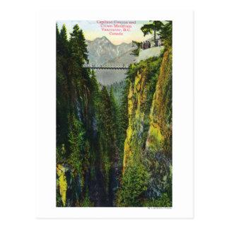 Cartão Postal Opinião da garganta de Capilano da montanha da