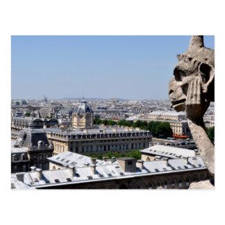 Cartão Postal Opinião da gárgula de Paris, Notre Dame