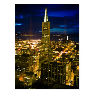 Cartão Postal Opinião da noite de San Francisco.