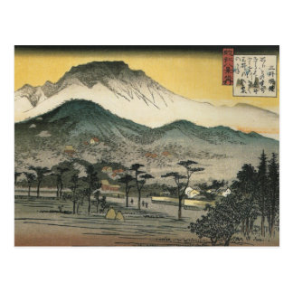 Cartão Postal Opinião da noite de um templo nas colinas por Ando