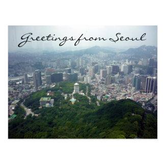 Cartão Postal opinião da torre de seoul
