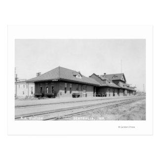 Cartão Postal Opinião de estação de estrada de ferro