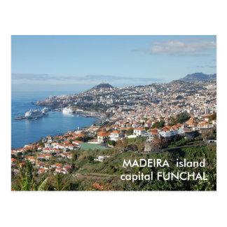 Cartão Postal Opinião de Funchal, ilha de Madeira