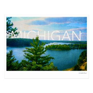 Cartão Postal opinião de michigan do rio do sable do au