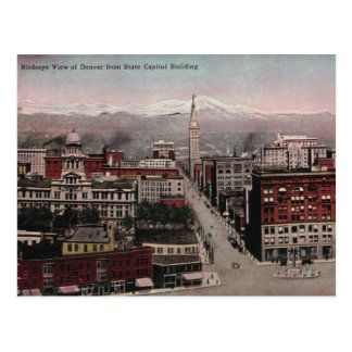 Cartão Postal Opinião de olho de pássaro de Denver, CO in Early