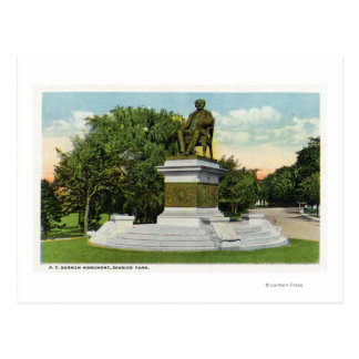 Cartão Postal Opinião de parque de beira-mar do monumento de P T