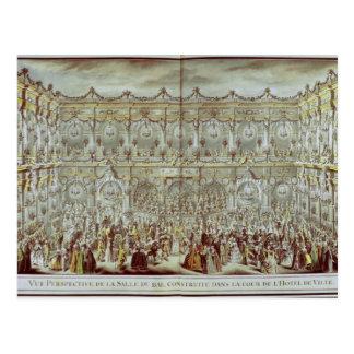 Cartão Postal Opinião de perspectiva do salão de baile