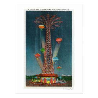 Cartão Postal Opinião de salto de pára-quedas do parque da