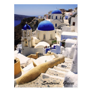 Cartão Postal Opinião de Santorini