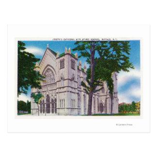 Cartão Postal Opinião de Spireless da catedral de St Joseph