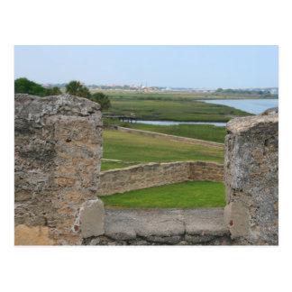Cartão Postal Opinião de St Augustine do castelo
