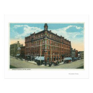 Cartão Postal Opinião de TownButte, TA do bloco de Owsley