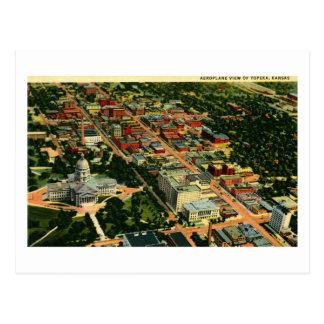 Cartão Postal Opinião do ar vintage do Topeka, Kansas