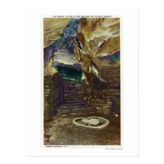 Cartão Postal Opinião do balcão do templo do titã do nupcial
