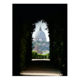 Cartão Postal Opinião do buraco da fechadura da basílica de St