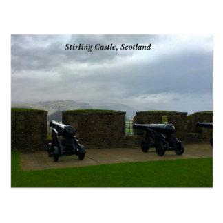 Cartão Postal Opinião do castelo de Stirling do monumento