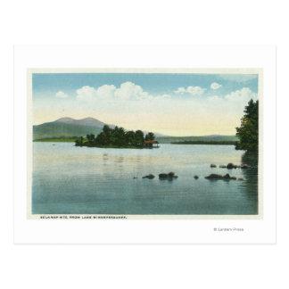 Cartão Postal Opinião do lago das montanhas de Belknap