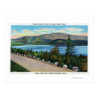 Cartão Postal Opinião do lago eagle da estrada do Mt do cadillac