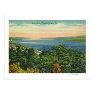 Cartão Postal Opinião do lago Seneca