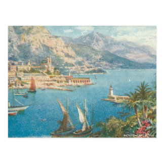 Cartão Postal Opinião do mar de Monte - de Carlo