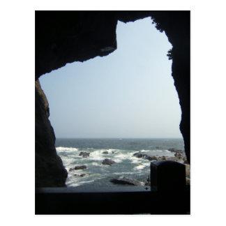 Cartão Postal Opinião do mar de uma caverna