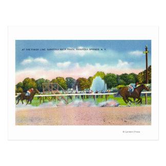Cartão Postal Opinião do meta do autódromo de Saratoga