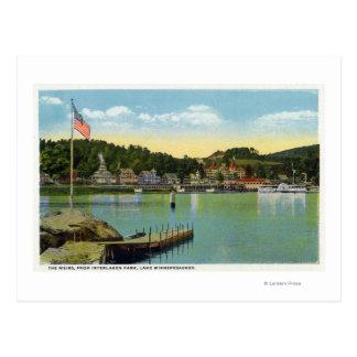 Cartão Postal Opinião do parque de Interlaken dos Weir